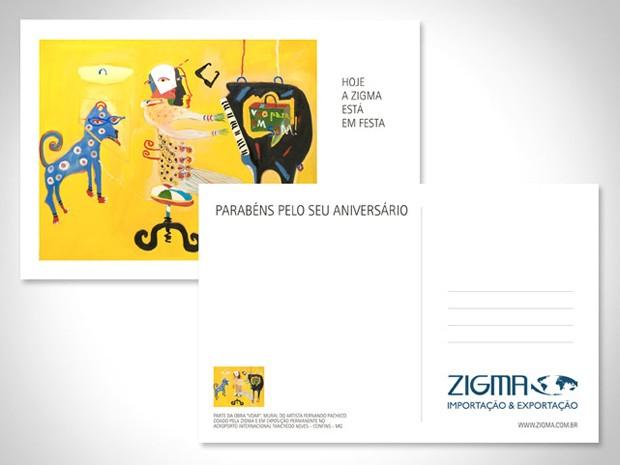 Zigma - Cartão Aniversário