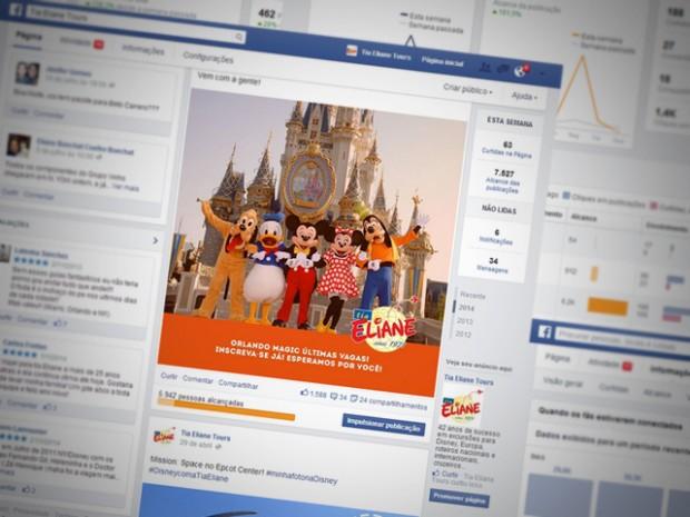Criação de Conteúdo e Campanhas para as Redes Sociais da Tia Eliane Turismo