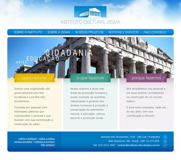 Site Instituto Cultural Zigma