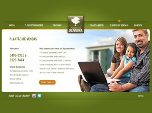Emccamp - Criação de Hot Site Residencial Oliveira
