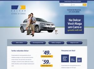 Delcar - Criação de campanha de publicidade, web site e folhetos
